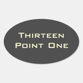 Thirteen Point One (13.1) Half Marathon Sticker