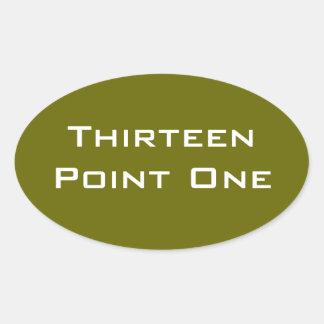 Thirteen Point One Half Marathon Mod Oval Sticker
