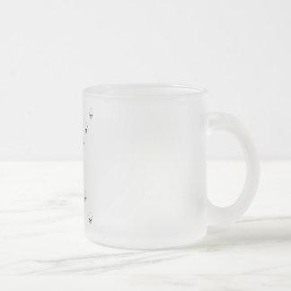 Thirteen Skulls Eerie Orange Sunburst Cross Frosted Glass Coffee Mug