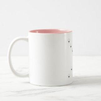 Thirteen Skulls Eerie Orange Sunburst Cross Two-Tone Coffee Mug