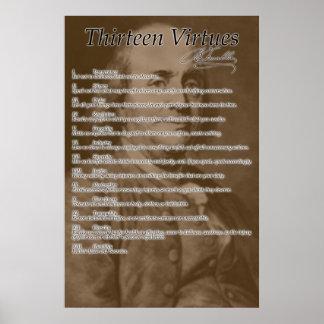 """""""Thirteen Virtues"""" Poster"""
