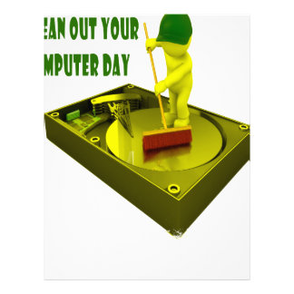 Thirteenth February - Clean Out Your Computer Day Letterhead