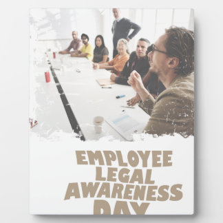 Thirteenth February - Employee Legal Awareness Day Plaque