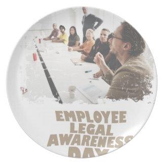 Thirteenth February - Employee Legal Awareness Day Plate