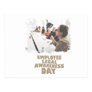 Thirteenth February - Employee Legal Awareness Day Postcard