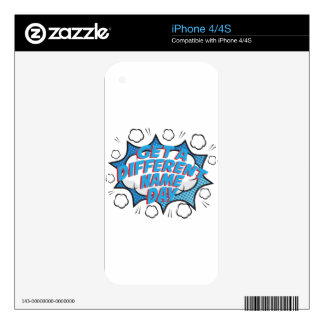 Thirteenth February - Get A Different Name Day iPhone 4S Skin