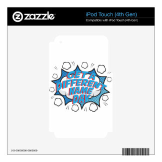 Thirteenth February - Get A Different Name Day iPod Touch 4G Decals