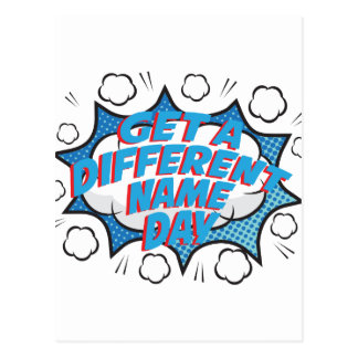 Thirteenth February - Get A Different Name Day Postcard