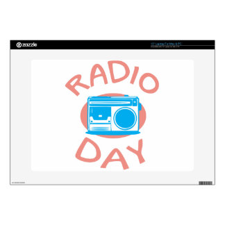 "Thirteenth February - Radio Day - Appreciation Day 15"" Laptop Skin"