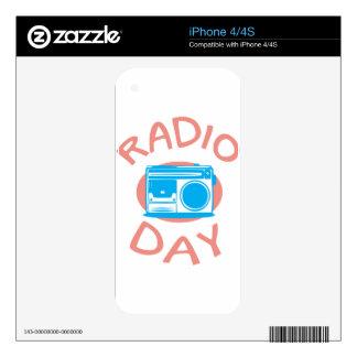 Thirteenth February - Radio Day - Appreciation Day iPhone 4 Decals