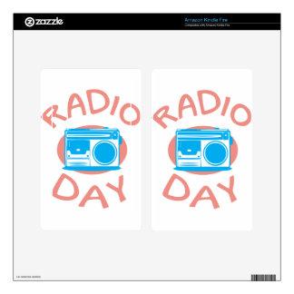 Thirteenth February - Radio Day - Appreciation Day Kindle Fire Skin