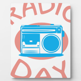 Thirteenth February - Radio Day - Appreciation Day Plaque