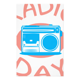 Thirteenth February - Radio Day - Appreciation Day Stationery