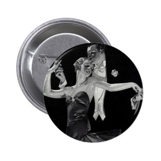 Thirties Dancing Deco Pinback Buttons