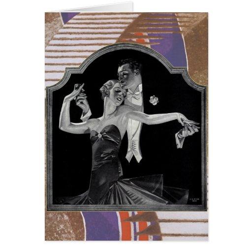 Thirties Dancing Deco Greeting Cards