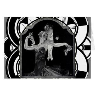 Thirties Dancing Deco Card