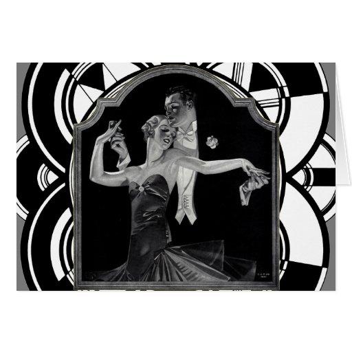 Thirties Dancing Deco Greeting Card