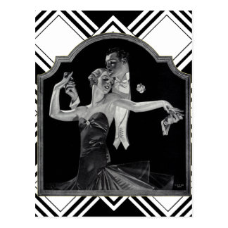 Thirties Dancing Deco Postcard