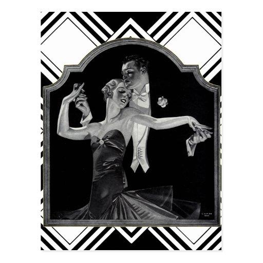Thirties Dancing Deco Postcards
