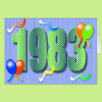 Thirtieth Birthday 1983 Card