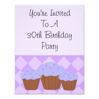 Thirtieth Diamonds and Cupcakes Card