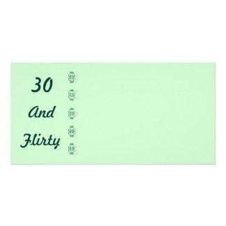 Thirty And Flirty photo card