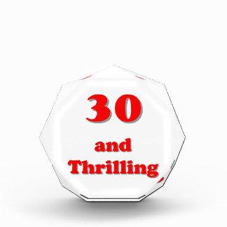 Thirty and thrilling humorous age birthday award