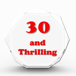 Thirty and thrilling humorous age birthday awards