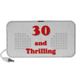 Thirty and thrilling humorous age birthday speaker system
