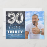 """Thirty Birthday Silver Balloon 