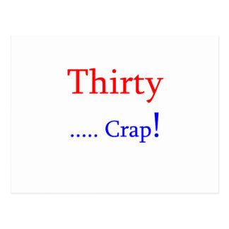 Thirty ... Crap! Postcard