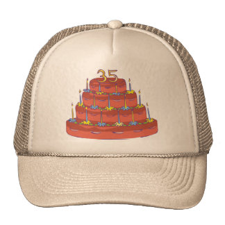 Thirty-five Candles 35th Birthday Gifts Trucker Hat
