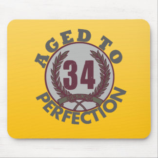 Thirty Four and aged to Perfection Birthday Mousepad