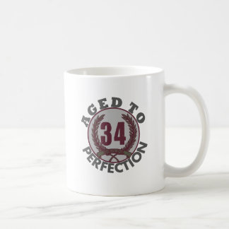 Thirty Four and aged to Perfection Birthday Coffee Mug