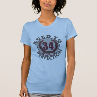 Thirty Four and aged to Perfection Birthday T-shirt
