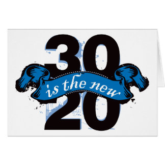 Thirty is the New Twenty - Blue Card
