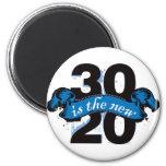 Thirty is the New Twenty - Blue Fridge Magnet