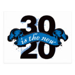 Thirty is the New Twenty - Blue Postcard