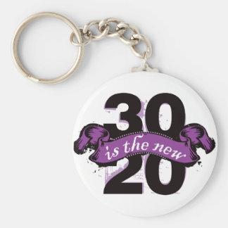 Thirty is the New Twenty - Purple Keychain