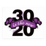 Thirty is the New Twenty - Purple Postcard