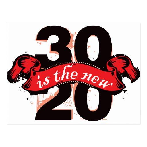 Thirty is the New Twenty - Red Postcard