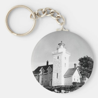 Thirty Mile Point Lighthouse Basic Round Button Keychain