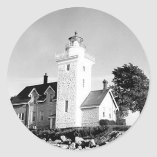 Thirty Mile Point Lighthouse Classic Round Sticker