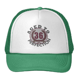 Thirty Six and aged to Perfection Birthday Trucker Hat