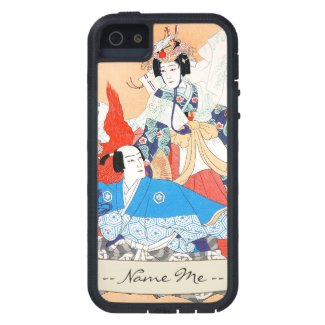 Thirty-six Kabuki Actors Portraits - Two Dancers Cover For iPhone 5