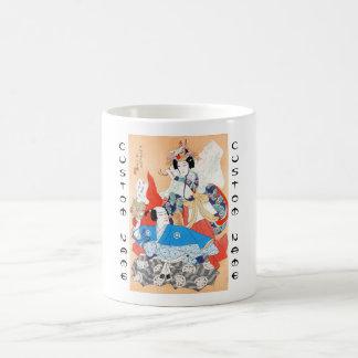 Thirty-six Kabuki Actors Portraits - Two Dancers Coffee Mug