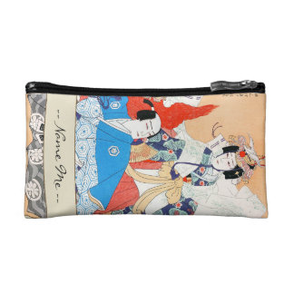 Thirty-six Kabuki Actors Portraits - Two Dancers Cosmetic Bag