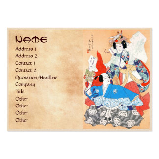 Thirty-six Kabuki Actors Portraits - Two Dancers Large Business Card