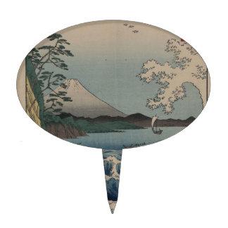 Thirty-six Views of Mount Fuji  富士三十六景,  Hiroshige Cake Topper