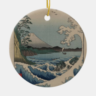 Thirty-six Views of Mount Fuji  富士三十六景,  Hiroshige Ceramic Ornament